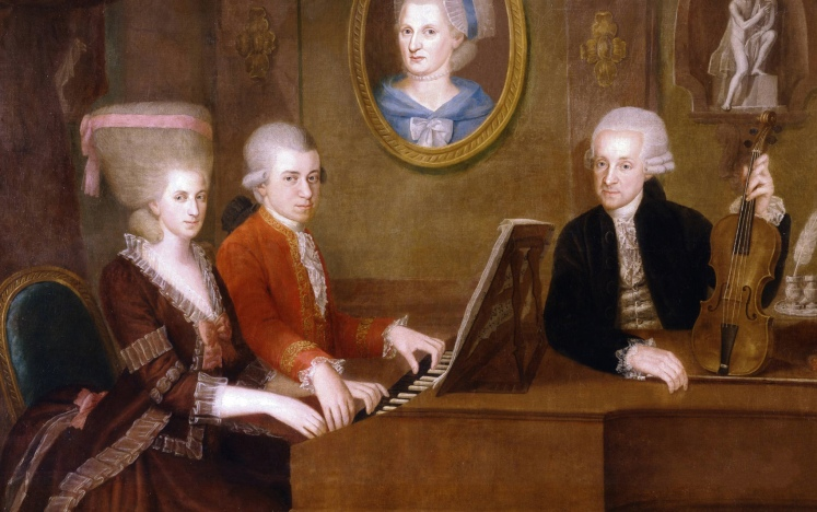 """Nannerl"", Wolfgang, Anna Maria and Leopold"